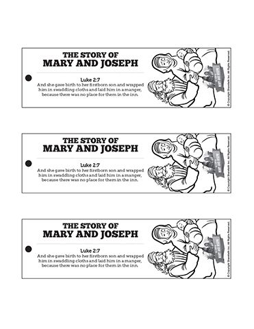 luke 2 mary and joseph christmas story bible bookmarks encourage your kids to discover the christmas story like never before by sending them home with