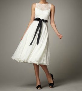 Aidan Mattox Tea Length Party Dress