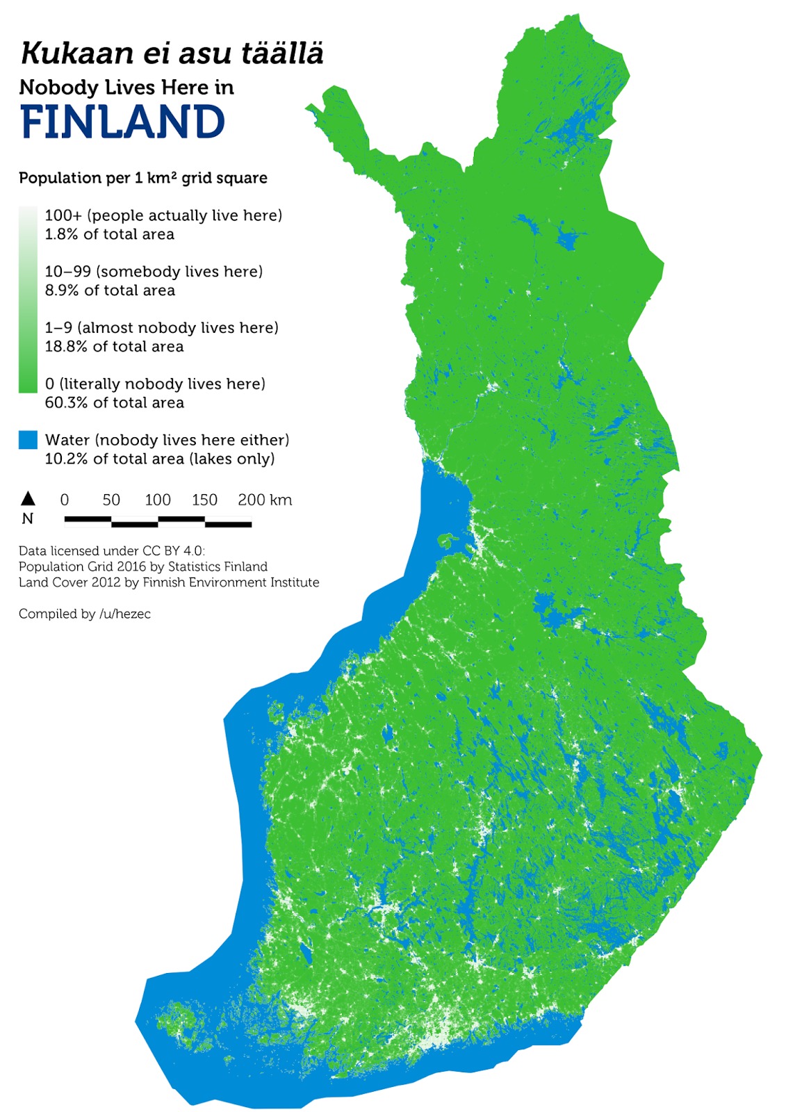 New Finland Canada Map Nobody Lives Here   Vivid Maps | Finland, Map, City maps