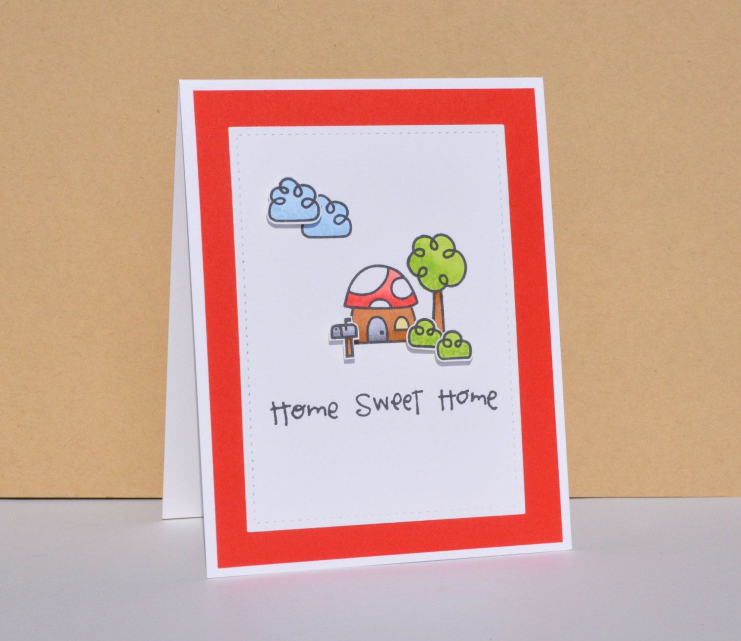 Hand stamped new home greeting card housewarming card new home hand stamped new home greeting card housewarming card new home card kristyandbryce Image collections