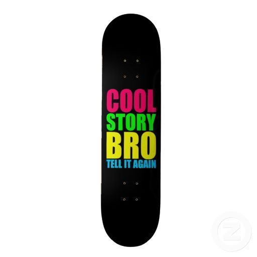Cool Skate Boards Neon Cool Story Bro Skate Board Deck  ✌Kasey Cool Board .