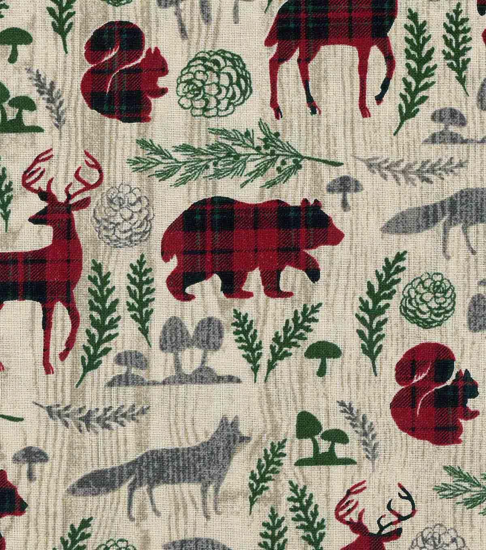 "Bird Box Printed Woodland Fabric 100/% Cotton 112cm 44/"""