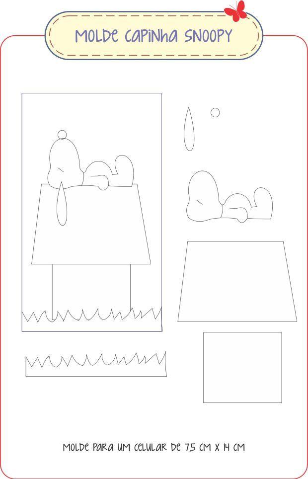 Molde Snoopy | diversos | Pinterest | Molde, Costura y Apliques