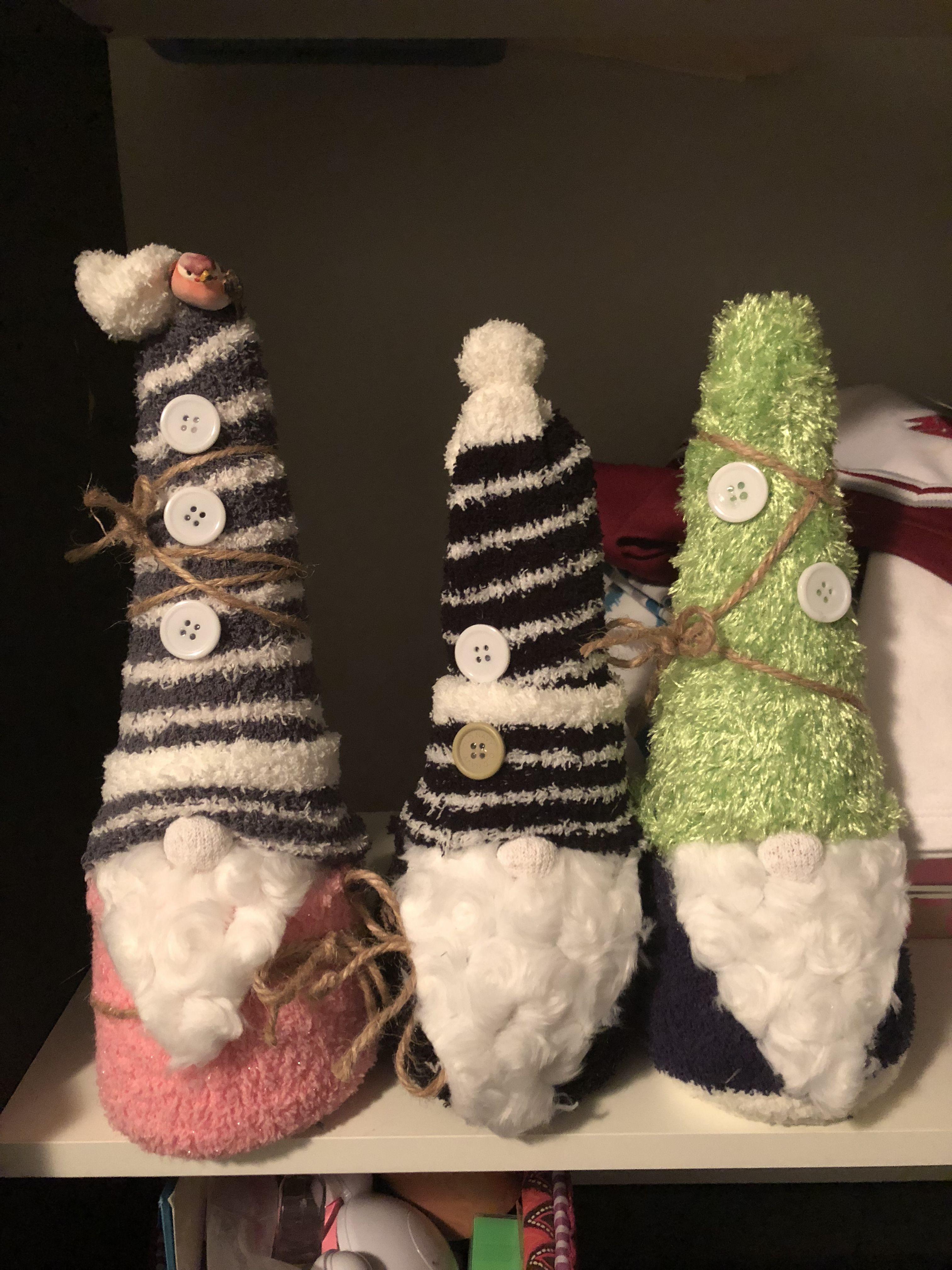 Sock gnomes Sewing christmas gifts, Gnomes, Sock crafts