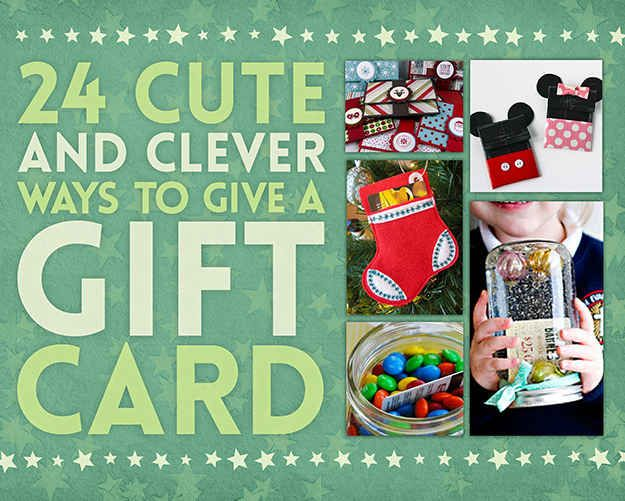 24 Cute And Clever Ways To Give A Gift Card With Images