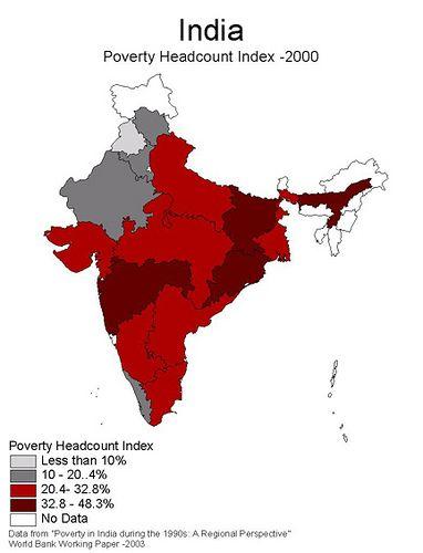 Map Of India Poverty Headcount Index