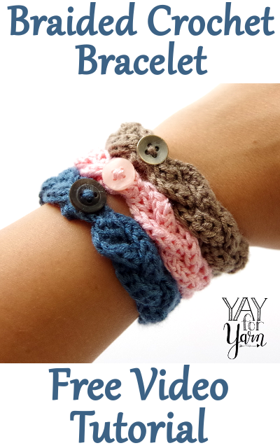 Comment faire un bracelet au crochet tressé »wiki utile Yay For Yarn   – Häkeln