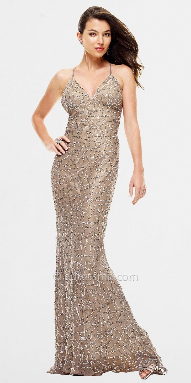 Aesthetic Gold Formal Dresses For The Beautiful Appearance : Long ...