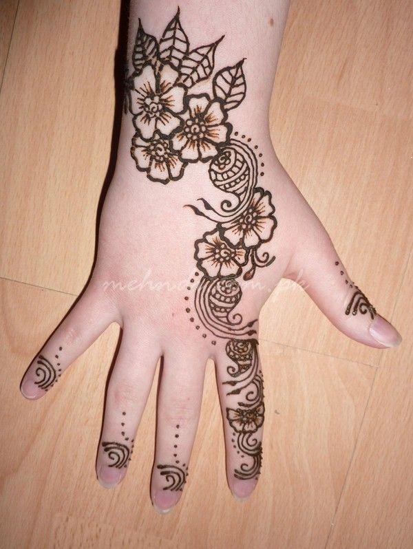 Pretty Simple Henna Designs: Simple-henna-design-for-kids-mehndi-design-for-child