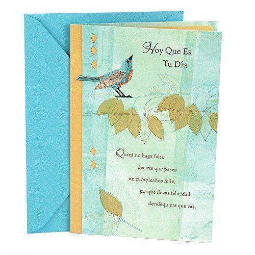 Hallmark Vida Spanish Birthday Greeting Card Bird
