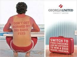 Great Ad By Georgia United Credit Union Cudifference Banksvscreditunions Memes Funny Bank Credit Union Jokes H Credit Union Marketing Banks Ads Credit Union