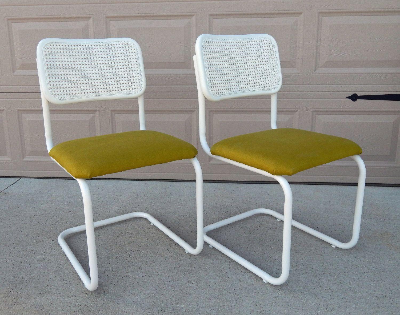 Vintage Marcel Breuer Cesca Chair Refinished Reupholstered
