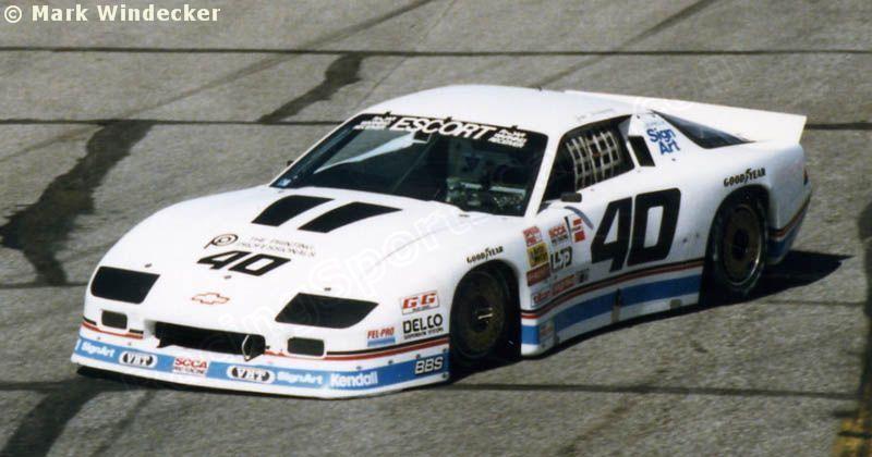 Jim Derhaag - Chevrolet Camaro - Sign Art - WMMS-FM Trans-Am Weekend Cleveland - 1988 SCCA Escort Trans-Am Championship, round 6 - © Mark Windecker
