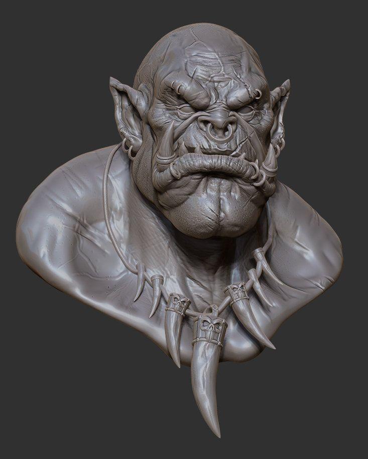 Character Design Zbrush : Artstation garrosh hellscream bust oscar loris d