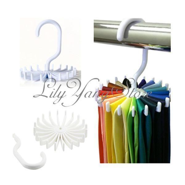 Adjustable 20 Hook Rotating Belt Rack Scarf Scarf Organizer Men Tie Hanger Holds