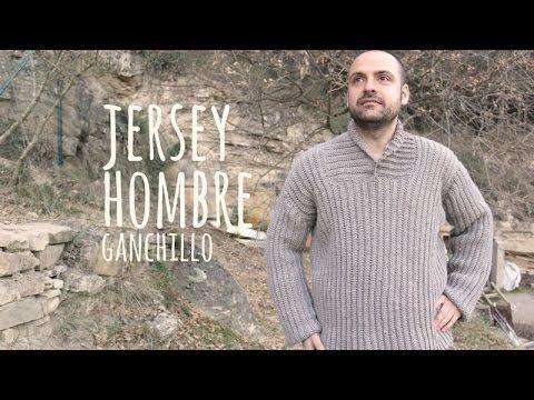 Suéter Crochet para Hombre / Tutorial   Crochet y Dos agujas ...