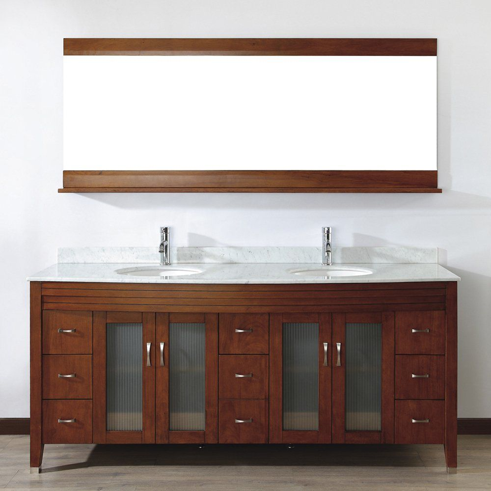 vanity oak wall bathroom products canada walnut kubebath modern the bliss grey mount store drawers with two inch