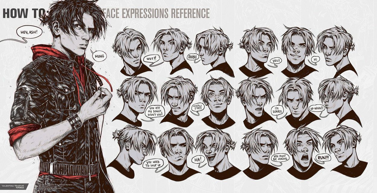 How To Face Expressions Reference By Valentina Remenar Deviantart Com On Deviantart Face Expressions Drawing Expressions Drawing Reference