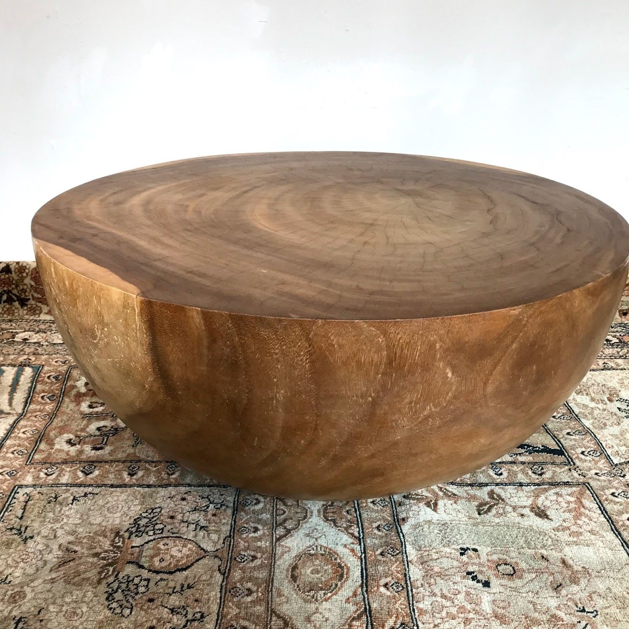 Solid Wood Half Sphere Coffee Table Shophousingworks Modern