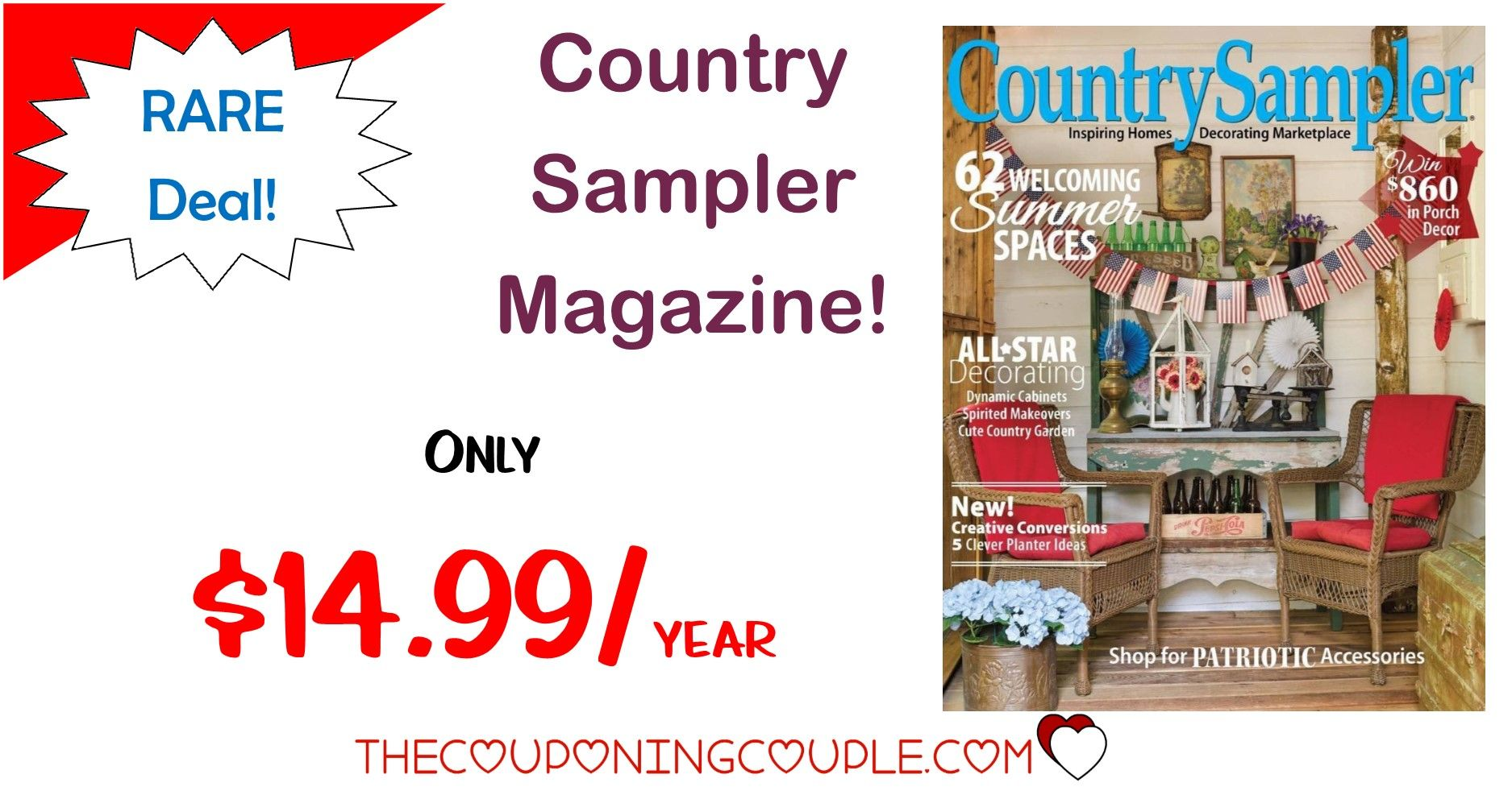Rare deal country sampler magazine only 1499year