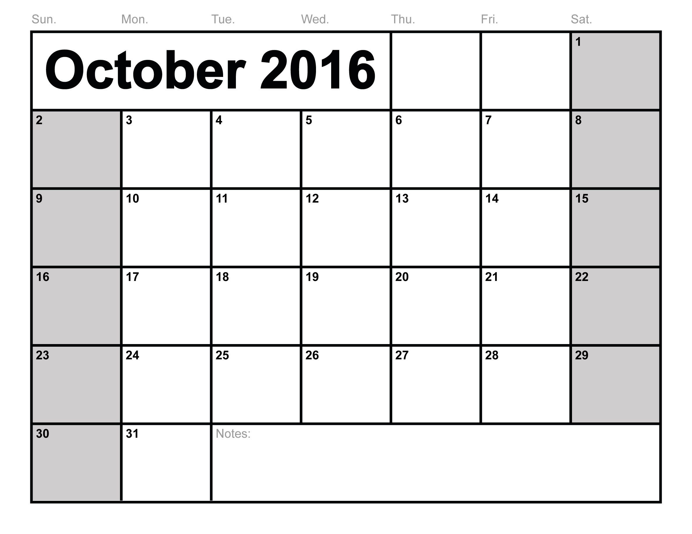 October  Calendar Printable Pdf  Word  Excel  Karen