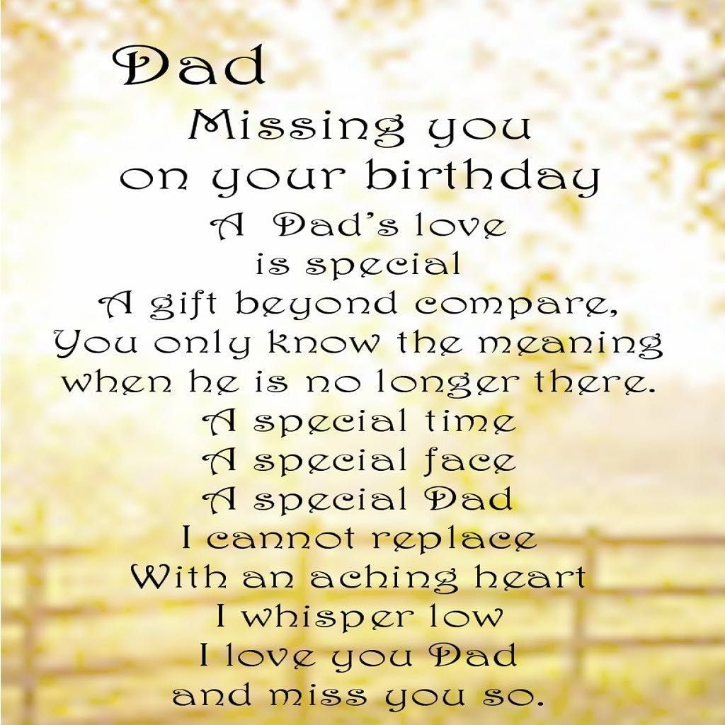 happy birthday in heaven i love and miss you missingmydad restinpeace heaven birthday poem