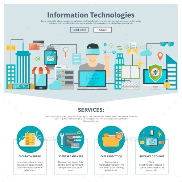 Information Technologies One Page Website Information Technology Humor Technology Posters Technology