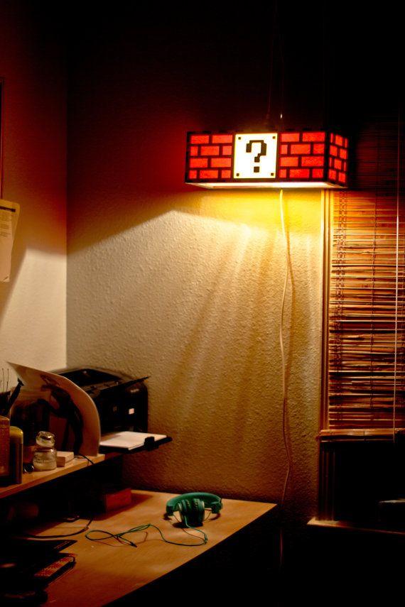 Mario Question Mark Block Light Home Decor Items Geek Decor Lamp