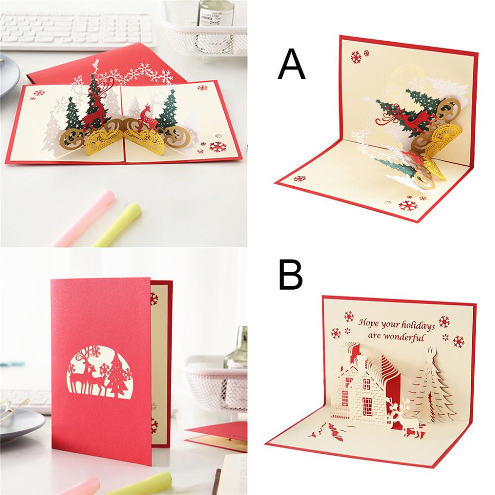 Christmas 3d Stereo Greeting Card Ar Virtual Imaging