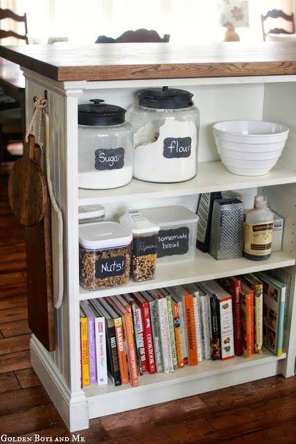 Billy bookshelves kitchen island ikea hackers