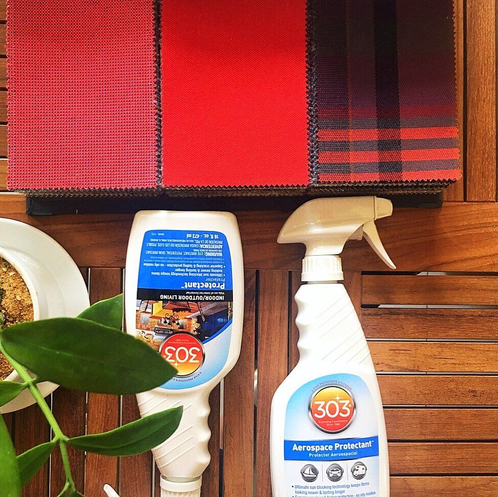 Sunbrellafabric Is Highly Cleanable With Water Bleach Or 303 Stain Guard Removal Don T Believe Us Swirl The Wine Glass Sunbrella Fabric Spray Bottle Stain