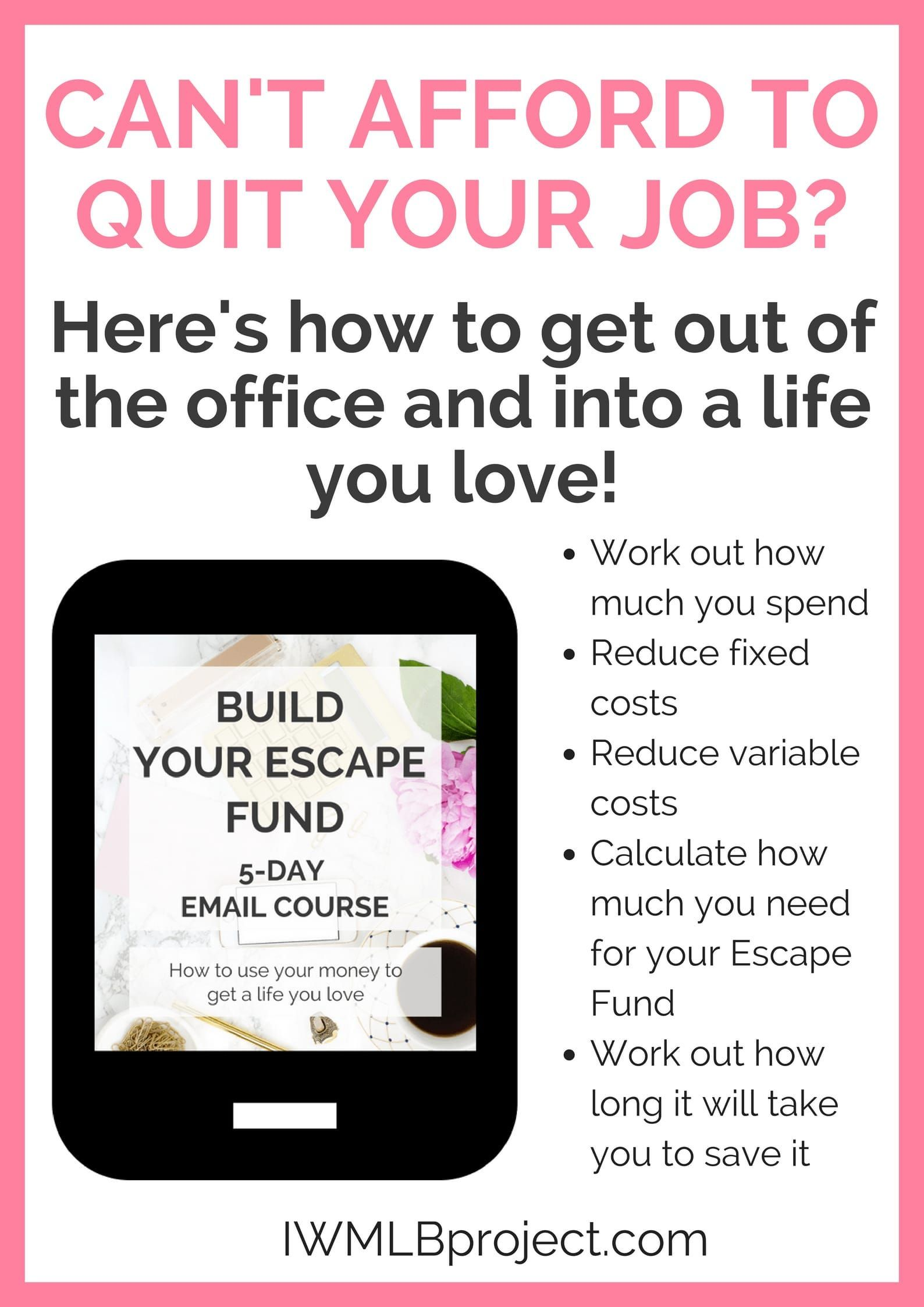 Can't afford to quit your job but really want to leave