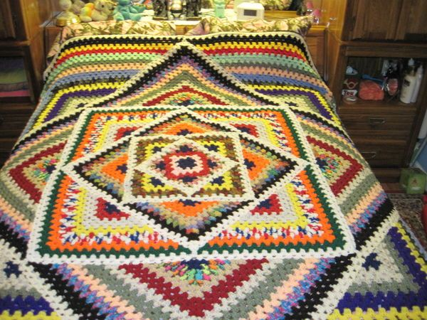 queen size kaleidscope afghan | colchas | Pinterest | Colchas ...