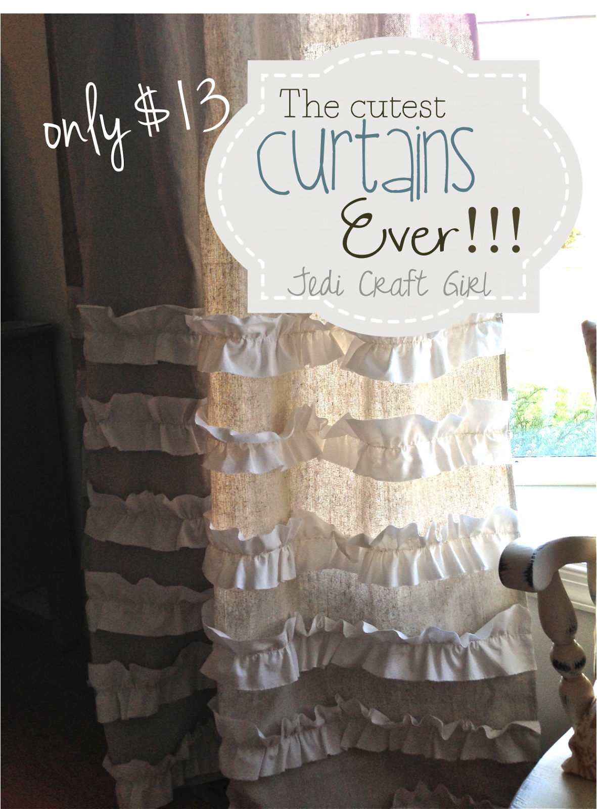 Drop Cloth Curtains Tutorial Jedi Craft Girl The Cutest Curtains Ever Tutorial Diy