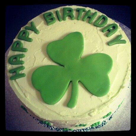Irish themed 5 layer bday cake