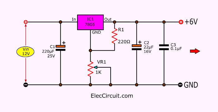 8 How To Convert 12v To 6v Step Down Circuit Diagram Circuit Diagram Circuit Converter