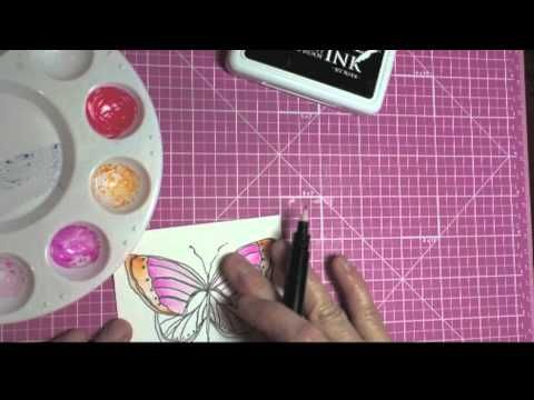Water Coloring with Tombow Markers