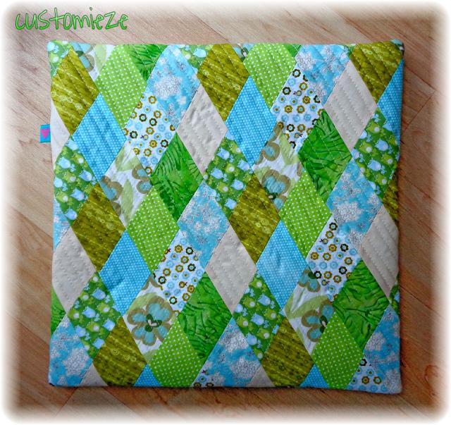 Rauten-Muster-Kissen   Patchwork und Quilting   Pinterest   Kissen ...
