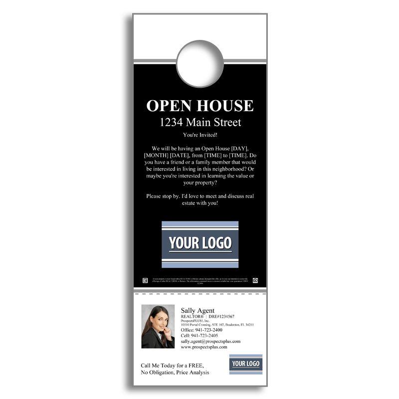 Real Estate Open House - Door Hanger Agent Marketing Products - door hanger template