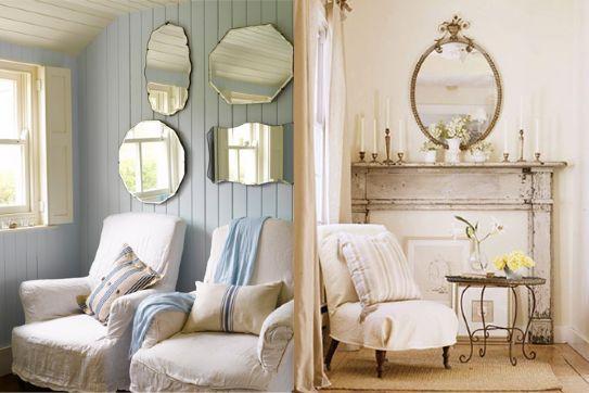 Stile shabby chic giochi di specchi artesanato for Arredare casa stile country