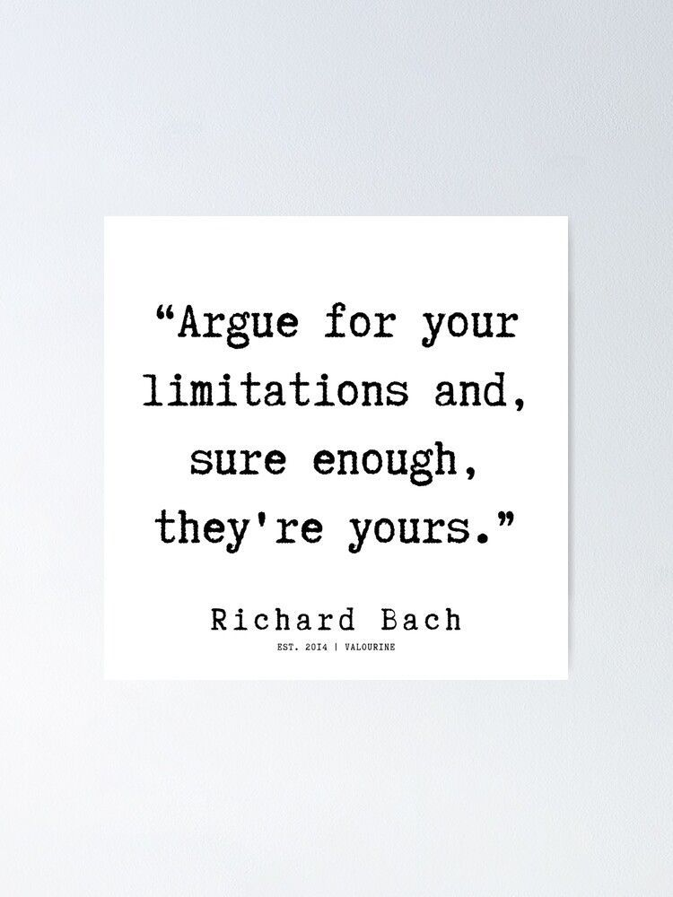 15 | Richard Bach Quotes | 190916 Poster by QuotesGalore