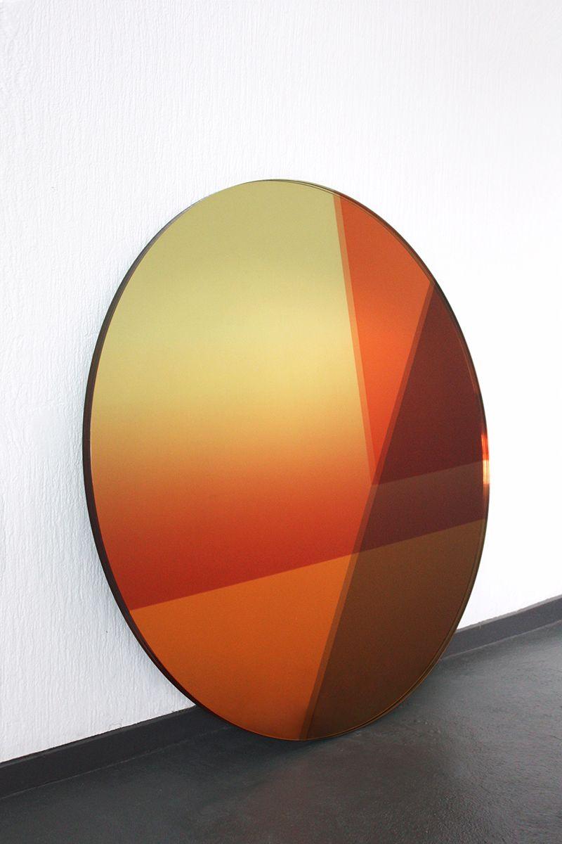 Blue/Red Seeing Glass Big Round Mirror by Sabine Marcelis and Brit ...