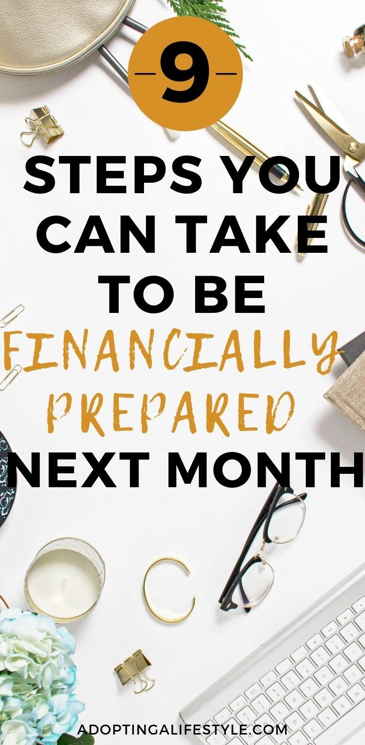 How to be financially prepared by doing 9 things every