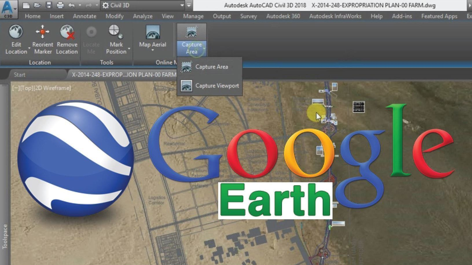Import Google Earth Map Into Autocad Civil 3d Earth Map Autocad