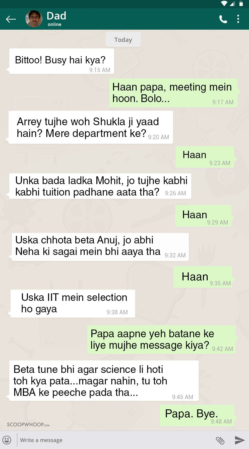 12 WhatsApp Conversations With Indian Parents That Are Hilariously