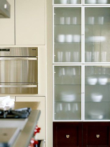 Glass-Front Cabinetry | Glass cabinet doors, Glass kitchen ...