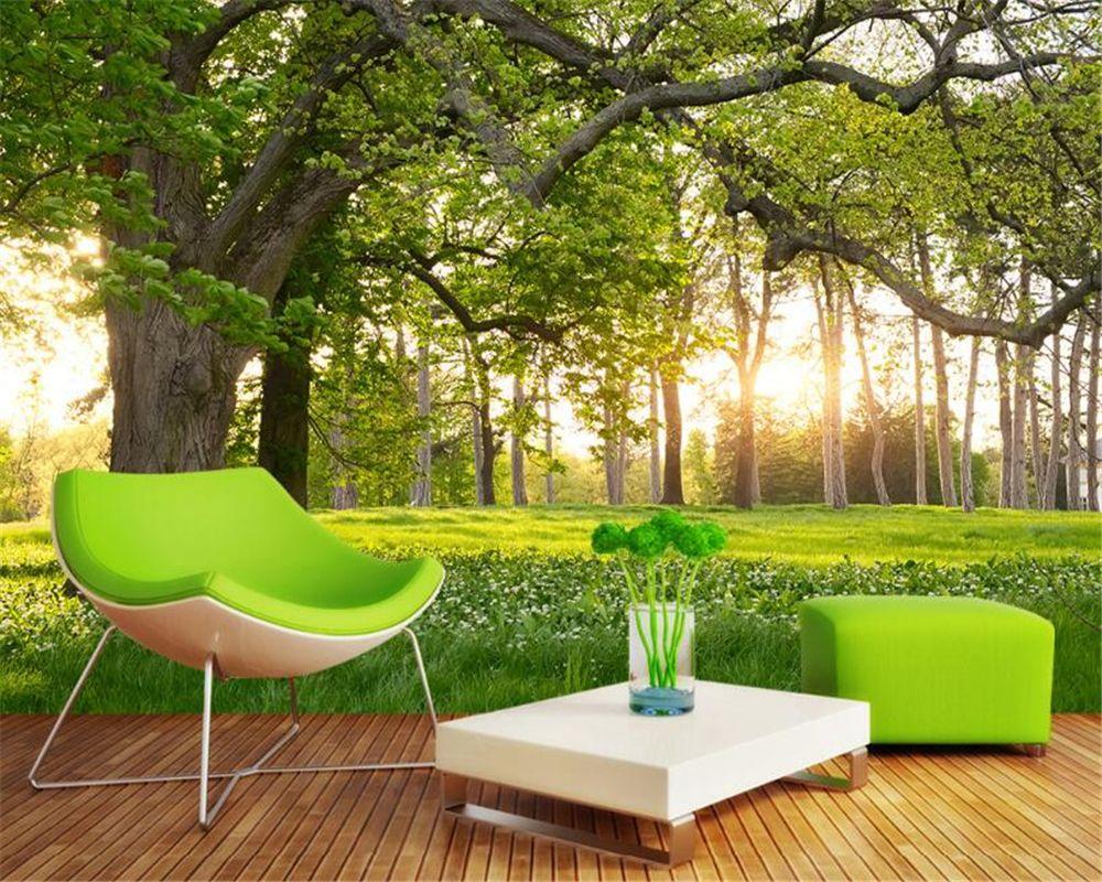 Beibehang 3D Wallpaper Woods Forest Park 3D Landscape Background ...