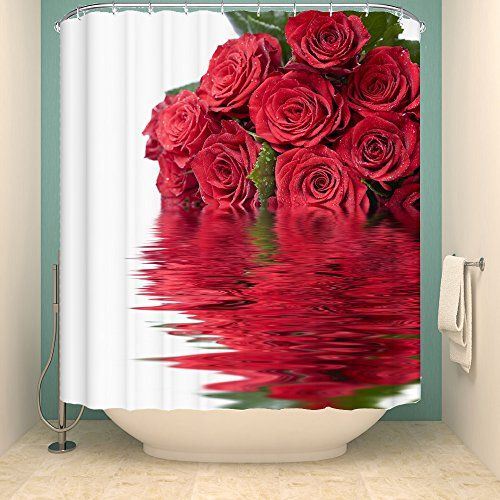 Extra Wide 200cm Red Rose Shower Curtain for Mordern Kids... https ...