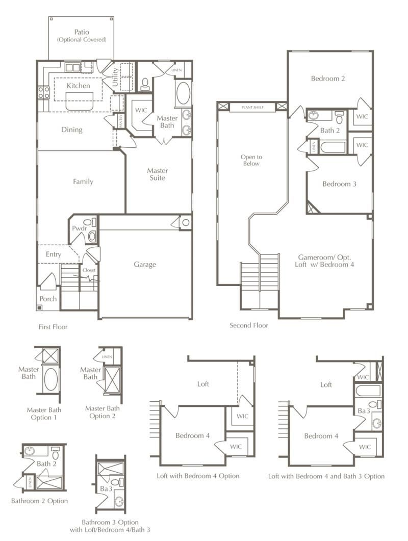 View The Various Options For This Large Floor Plan In Austin Texas Starting At 288 990 Floor Plans Sale House Large Floor Plans