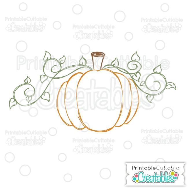 Swirly Vine Pumpkin Free Single Line Svg File For Sketch Pens Foil Quill Freebie Svg Free Svg Free Clip Art